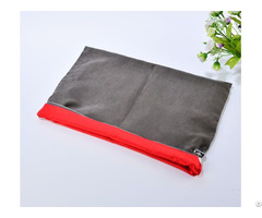 Large Velvet Satin Zipper Pouch For Garment Shoes