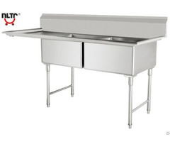 Stainless Steel Amrican Style Sinks With Two Bowls Left Panel