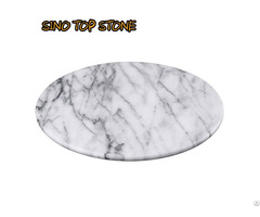 White Marble Round Plate