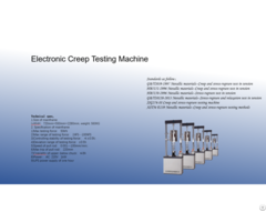Electronic Creep Testing Machine