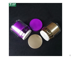 High Quality Double Wall Round Acrylic Cosmetic Cream Jar With White Pump