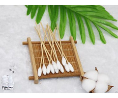 """6"""" Bamboo Medical Oral Care Wipe Cotton Tips Applicator"""