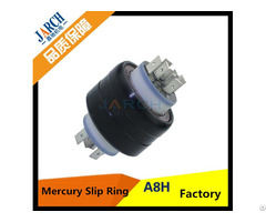 A8h 45mm Anti Jamming Mercury Slip Ring 8 Poles For Rotating Object To Transfer Tiny Voltage