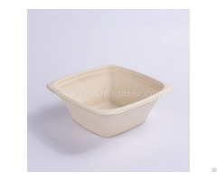 Paper Pulp Tableware 32oz Square Bowl