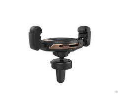 10w Fast Roller Wireless Car Charger Mount Phone Holder With Qi Charging