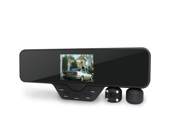 Dual Lens Rearview Mirror Dvr Recorder Car Black Box Dash Cam