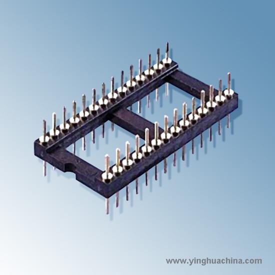Ic Socket Machined Pin Straight Contact No Clip With Tin Gold Flash Plating 6p 28p 22p 24p 48p