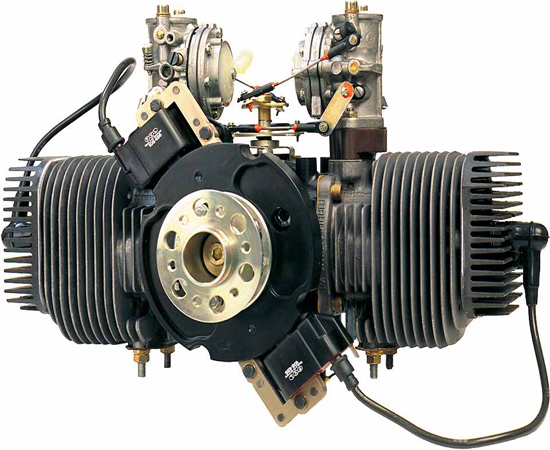 Limbach L275e Two Cylinder Stroke Boxer Engine Air Cooling Single Magneto Ignition 2 Carburettors Mi