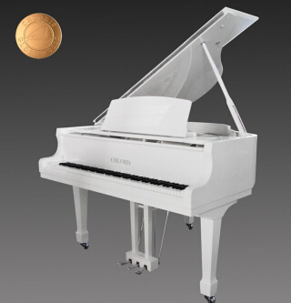Music Instruments Chloris White Wooden Baby Grand Piano Hg 152w With Pianodisc Self Playing System