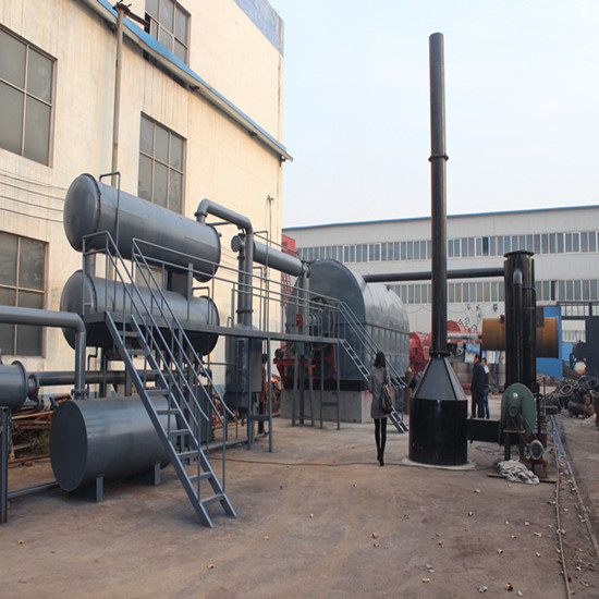 No Pollution Waste Scrap Tyre Recycling Machine To Fuel Diesel Oil