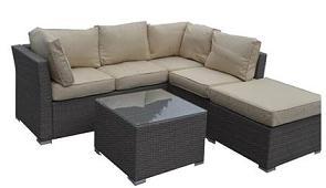 Outstanding Rattan Corner Sofa Group Patio Furniture