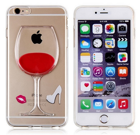 Red Wine Liquid Case For Iphone