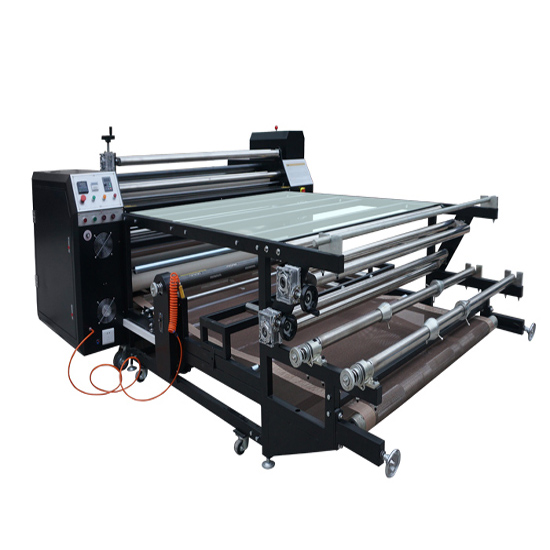 Roll To Roller Heat Transfer Machine For T Shirts Printing High Pressure