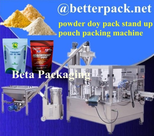 Stand Up Pouches Packaging Machine Doy Pack For Whey Protein Powder