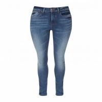 Women Skinny Jeans Mid Blue And Dark