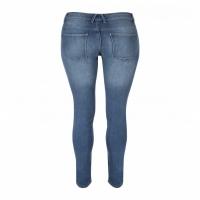 Women Skinny Jeans Mid Blue Dark Blues