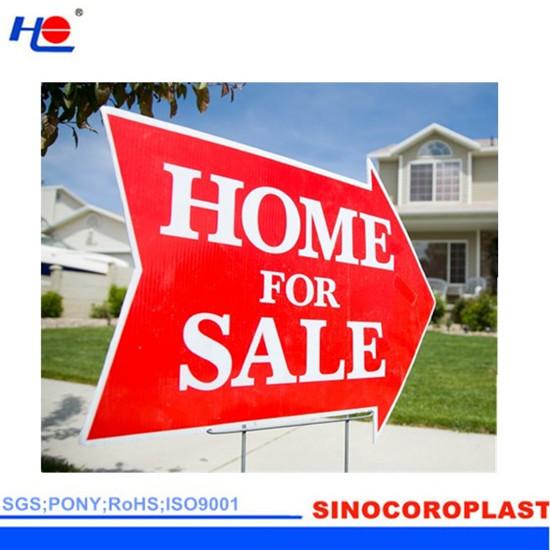 Anti Uv Pp Corrugated Advertising Sign Sheet