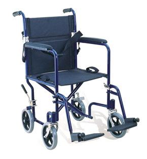 Attendant Propelled Transport Wheelchair Black
