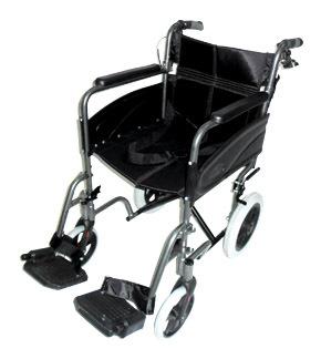 Compact Transport Aluminium Wheelchair Grey