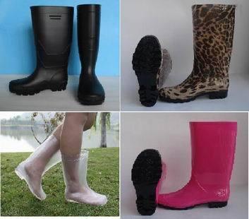 Fashion Pvc Rain Boots For Women