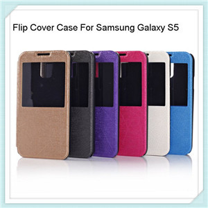 Filp S View Leather Case For Samsung Galaxy S5