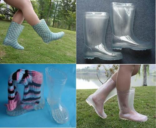 Ladies Fashion Pvc Rain Boots