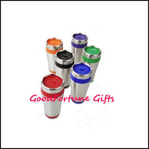 Promotional Travel Car Coloured Stainless Steel Mugs Gift