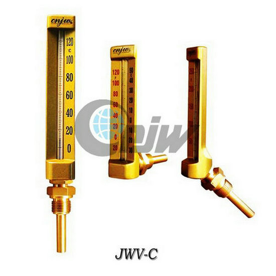 V Shape Industrial Glass Thermometer