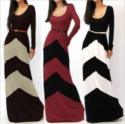 Womens Long Sleeve Floor Length Dresses