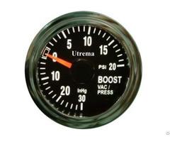 Utrema Auto Turbo Boost Gauge Illuminated 52mm