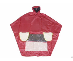 R 1020a Pl 3 Red Polyester Motorcycle Rain Gear