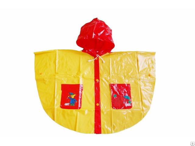 R 1020k 1006 Red And Yellow Shiny Pvc Vinyl Girls Raincoats