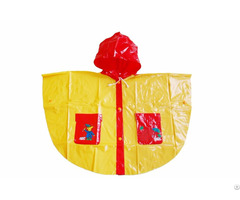 R 1020k 1006 Red And Yellow Shiny Pvc Vinyl Girls Raincoats