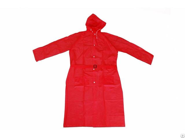 R 1056 Red Pvc Vinyl Long Rain Ladies Waterproof Jackets