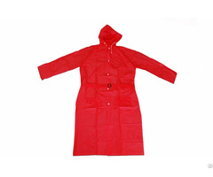 R 1056 Red Pvc Vinyl Long Rain Ladies Waterproof Jackets