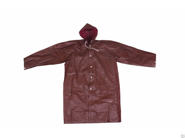 R 1058 6 Brown Eva Peva Long Rains Jacket