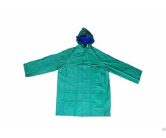 R 1057 1 Green And Blue Reversible Pvc Vinyl Rain Best Waterproof Jacket