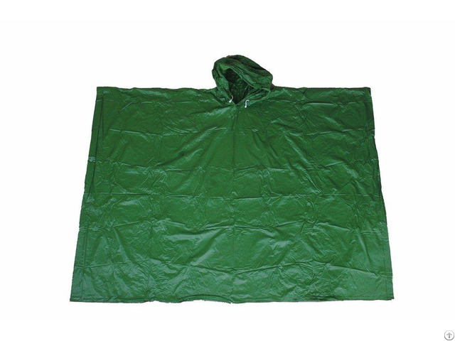R 1020a Peva 04 Green Eva Rain Mens Poncho