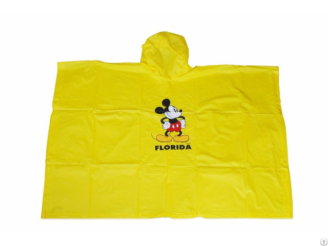 R 1020k 2004 Yellow Disney Micky Mouse Pvc Vinyl Boys Raincoat
