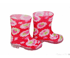 Rb 1001 Red Fruit Print Pvc Vinyl Toddler Rain Boots