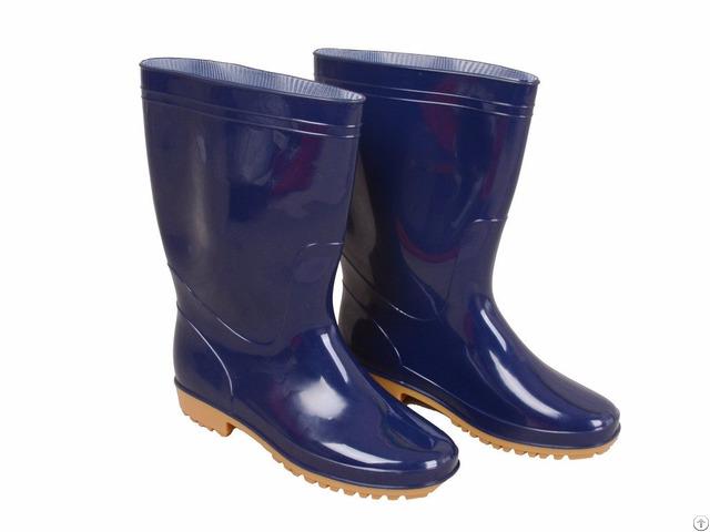 Wrb 1001 Blue Pvc Vinyl Men Best Rain Boots