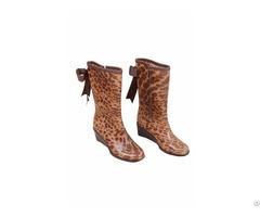 Frb 1001 Leopard Pvc Vinyl Women Rain Boots