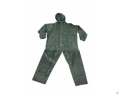 R 0910 6 Green Polyester Nylon Raincoat For Men