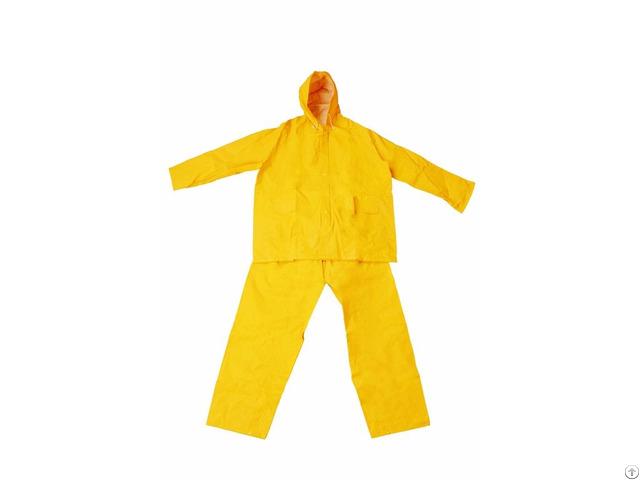 R 1045 1 Yellow Pvc Polyester Rain Suit