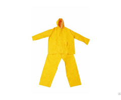 R 1045 1 Yellow Pvc Polyester Rain Suit