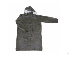 R 24017 Green Pu Long Rain Mens Waterproof Jackets