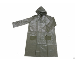 R 1056 9 Green Heavy Duty Pvc Vinyl Long Rain Jackets For Men