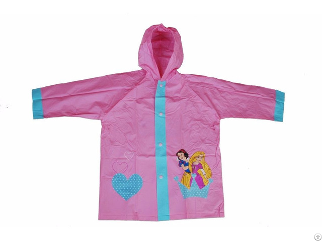 R 1021 1005 4 Disney Princess Pink Pvc Vinyl Kids Best Rain Jacket