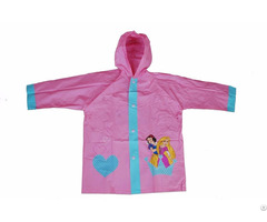 R 1021 1005 4 Disney Princess Pink Pvc Vinyl Kids Best Rain Jacket