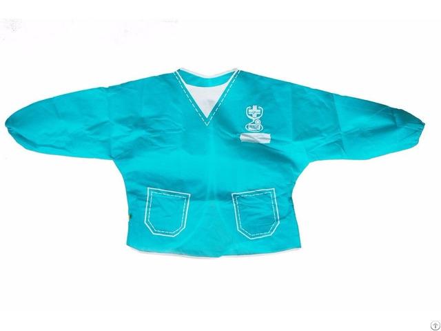 Ml Ap 1020 Blue No Woven Paint Toddler Apron